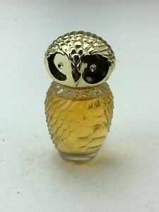"Vintage AVON Sweet Honesty Cologne 1FL OZ. Owl Decanter Collectible Bottle 2.5"""