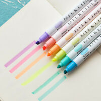 12pcs Marker Pens Soft writing Headed Fluorescent Pen Art Highlighter Drawing Tn