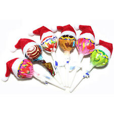 30Pcs Mini Santa Claus Hat Christmas Party Xmas Decor Holiday Lollipo DECO