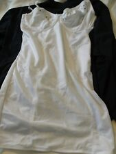 Naturally Close NP339 White Underwire Embroidered Cup Shapewear Bodydress 36DD