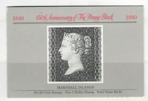 S34780 Marshall Isl. 1990 MNH 150 Years Stamps 7v Im Booklet