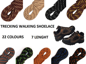 THICK Strong Shoelace High Quality Round Boot Laces Hicking Walking Work  Ø 5mm