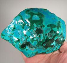 """5.8"""" Polished Botryoidal CHRYSOCOLLA & MALACHITE Gemstone - Congo, Africa"""