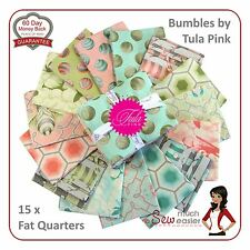 Tula Pink Bumble Fat Quarters Fabric quarters retro modern pastel baby fabrics