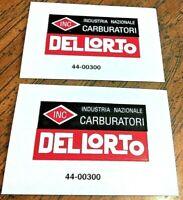 Dellorto Carburatori carburetor transfer sticker Ducati Benelli Parilla, pair