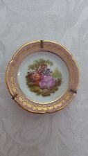 Vintage Porcelaine Artistique F.M Limoges France Small Plate with Stand
