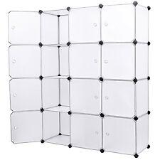 Mobile armadio modulare quadrato impermeabile resistente con 12 scomparti Bianco