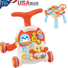 New listing Baby Walker Toy Toddler Learning Activity Center Fun Piano Drum w/ Sound & Light