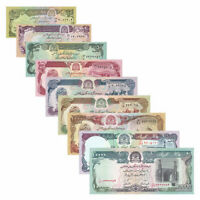 Afghanistan 9 PCS World Banknotes 10-500,500-10000 AFN Real Currency UNC