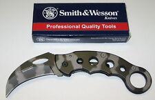 Smith & Wesson cuchillo Extreme ops Karambit camo ck32c nuevo/en el embalaje original!