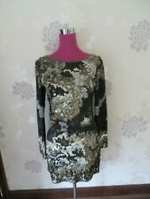 Stunning  All Saints Oyster Sequin Dress Black Size 8 Excellent Condition