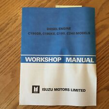 Isuzu C190/GB/KE C240 WORKSHOP SERVICE REPAIR MANUAL ENGINE DIESEL GUIDE **NEW**