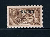 Nauru - 1916-23 - 2sh6p Seahorse --  Deep Brown - SC 13a [SG 19] Mint 20 - B