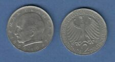 Bundesrepublik Kursmünze 2 Mark Max Planck 1967 J