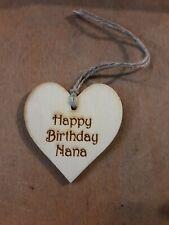 Handmade Wooden Gift Tags Nana