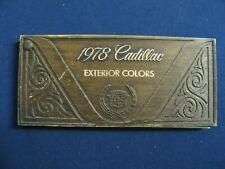 1978 Cadillac Eldorado  Seville, Fleetwood Brougham, Coupe deVille Paint Samples