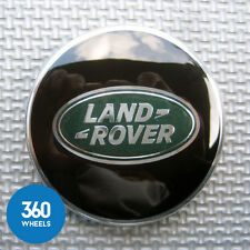 1 x NEW GENUINE LAND ROVER ALLOY WHEEL CENTRE CAPS BLACK GREEN RANGE LR069899