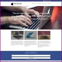 Fully Stocked Dropshipping MACBOOK Website Business For Sale + Domain + Hosting