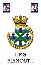 HMS Plymouth Royal Navy crested Fridge Magnet