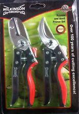 Wilkinson Sword Pruner Set - Secateurs Twin Pack - Bypass & Anvil (1111218W)