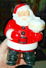 Antique Hard Plastic Jolly Santa Claus Table Top Light Father Christmas Figurine