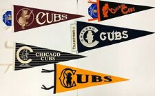 CHICAGO CUBS COOPERSTOWN COLLECTION PENNANT LOT (5)