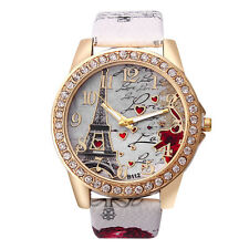 g; Women Leather Band Analog Quartz Round Wrist Watch Watch Bracelet White