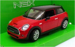 Welly 1/24 Scale Model Car 24058W - New Mini Hatch - Red