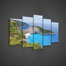 SET (5 teilig) CANVAS LEINWANDBILD WANDBILDER BILD Ozean Natur Strand 3FX2644S17