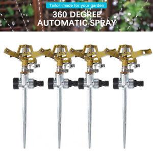 1/2/3/4X Rasensprenger Metall Impulsregner Kreisregner Rasen Sprenger Sprinkler