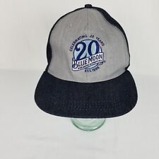Blue Moon Brewing Company 20th Anniversary Snapback Hat