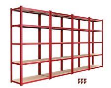 4 Bay Garage Shelving Unit Heavy Duty 5 Tier Shelf Steel Racking
