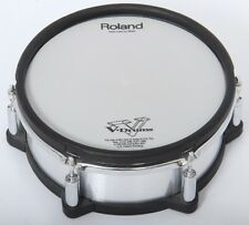 "Roland PD-105X 10"" Silver Brushed Metal Dual Trigger Mesh Electronic Drum Pad"