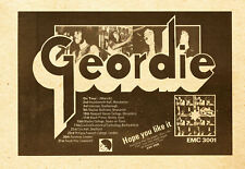 POSTER GEORDIE HOPE YOU LIKE IT TOUR CM 35X50 REWORKED REPRO UK '70 ADVERT MAG