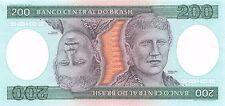 Brazil 200 Cruzeiros Block AA Uncirculated Banknote , G. 1C