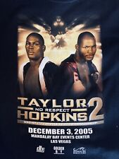 Bernard Hopkins/ Jermaine Taylor On Site T Shirt - Vintage Boxing Memorabilia
