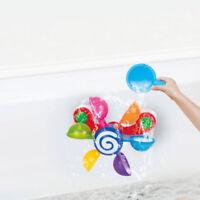 Bath Tubs Water Play Toy Set/Water Wheel/Squeak Foat Pig Duck Family