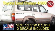 4500 Series Bedside Decals Fits on Toyota Landcruiser Fj80 Fj70 Fj60 Fzj80 Lx450
