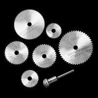 6pc HSS Mini Rotary Disc SAW Cutting BLADE SET Dremel Type Multi Tool Drill Kit