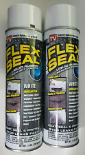 New ListingFlex Seal Spray Liquid Rubber Sealant Stop Leaks Wet Dry 14oz Can, White, Qt. 2
