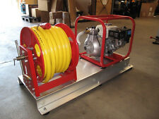 Fire Fighting Skid With Reel VHP Pump Twin Impeller 310LPM 115PSI Honda GX200