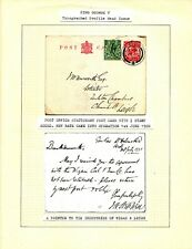 1920 P.O. STATIONARY POSTCARD WITH 1/2d STAMP ADDED, REF. WIGAN COAL & IRON Co.