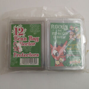 CVS Rudolph Red-Nosed Reindeer Misfit Toys 12 Bean Bag Collector Tag protectors