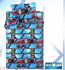 Completo Lenzuola Marvel Avengers 1 Piazza Lenzuolo sopra sotto angoli Federa come da Foto