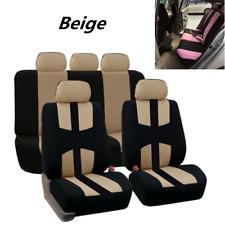 9PCS Insparation Car Seat Cover Full Set Front Rear Seat Cushion Mat Protector