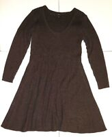 NEW! Lane Bryant, Long Sleeve, Fit & Flare, Charcoal Gray Sweater Dress Sz 18/20