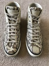 Louis Vuitton Snakeskin High Top Sneakers US Size 10 LV 8.5