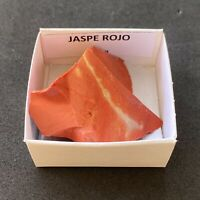 JASPE ROJO  Red Jasper - Brasil BRAZIL MINERAL COLECCION CAJA CAJITA 4x4cms N217