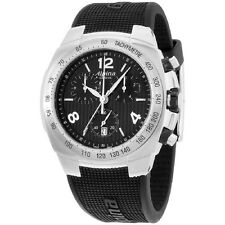 Alpina Avalanche Black Dial Silicone Strap Men's Watch AL350LBBB4A6