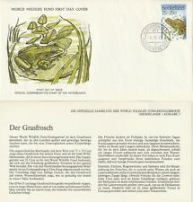 NETHERLANDS 1976 COMMON FROG WWF ILLUSTRATED FIRST DAY COVER SHS